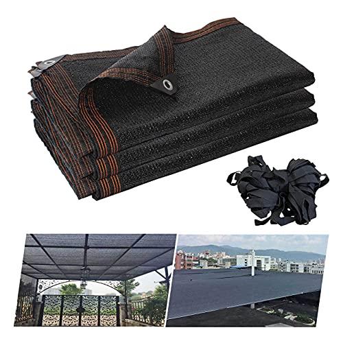 YYDP 80% Malla Sombreo 4x6m Paño De Vela De Sombra 3x4m para Plantas Protección contra El Calor con Ojales Toldos Vela Exterior Rectangular De 2x3m Patio Al Aire Libre Sombra De Malla De Sol, Negro