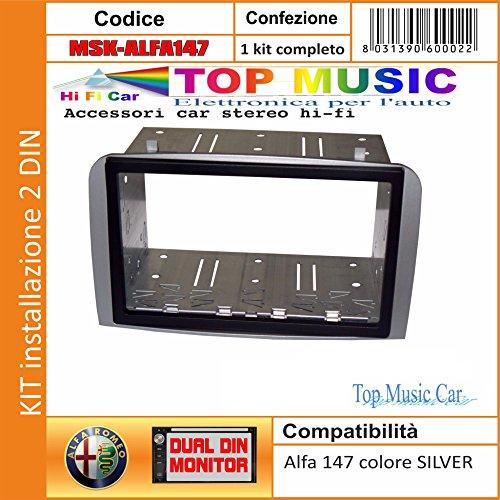 Kit Mascherina autoradio Stereo Alfa Romeo 156 Chiavi 1 DIN Sound Way Adattatore Antenna