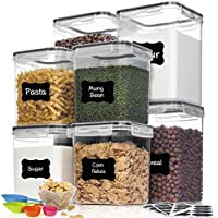 8-Piece HOOJO Airtight BPA-Free Food Storage Containers with Lids