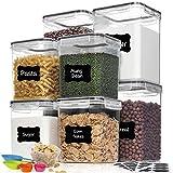 Best Flour Containers - HOOJO Flour Sugar Containers Set, 8 Piece Airtight Review