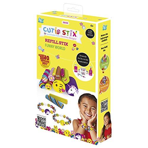 Beluga Spielwaren GmbH Nachfüllpack Beluga Spielwaren 33103 Cutie Stix Recharge Funny World, coloré, 11,50 x 4 x 20,50 cm