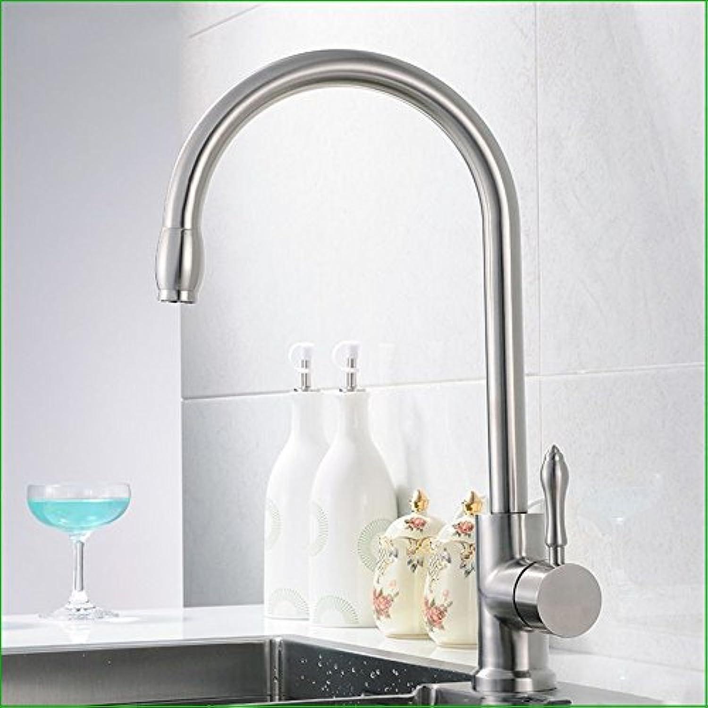 Bijjaladeva Wasserhahn Bad Wasserfall Mischbatterie Waschbecken Waschtisch Armatur Waschbeckenarmatur für Badezimmer304 Edelstahl gebürstet Küche Teller Waschbecken Wasserhahn
