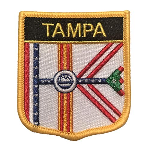 City of Tampa (FL) Flag Shield Patch/Cities of Florida Crest Badge