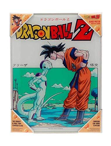 SD toys Cristal Goku Vs Freezer Glass PosterDragon Ball Z Official Merchandising Adornos Muebles Pegatinas Decoración del hogar Unisex Adulto, Multicolor (Multicolor), única