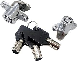 M1MI Motorcycle Hard Saddlebag Saddle Bag Lock Set with 3 Keys Fit for 1997-2013 HD Touring Road King Electra Glide