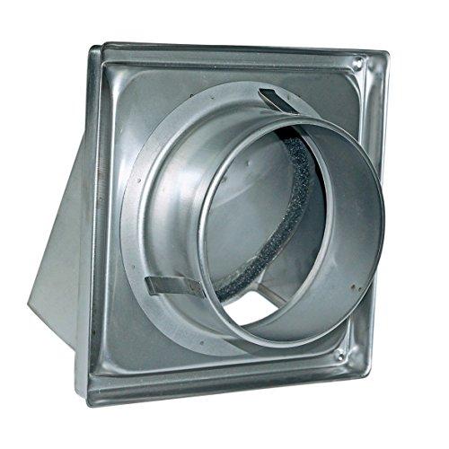 Außenhaube Abluft-Haube für 100erR Luftführungssysteme Lufthaube Abdeckung aus Edelstahl mit Rückstauklappe Anschlusssystem für Ablufttrockner Dunstabzugshaube Lüftung Klimagerät Küche
