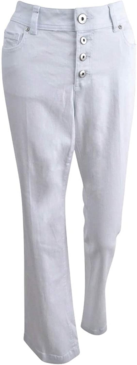 INC International Concepts Curvy White Wash Bootcut Jeans