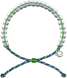 4Ocean Bracelet with Charm Made from 100% Recycled Material Upcycled Jewelry (Blue/Green)