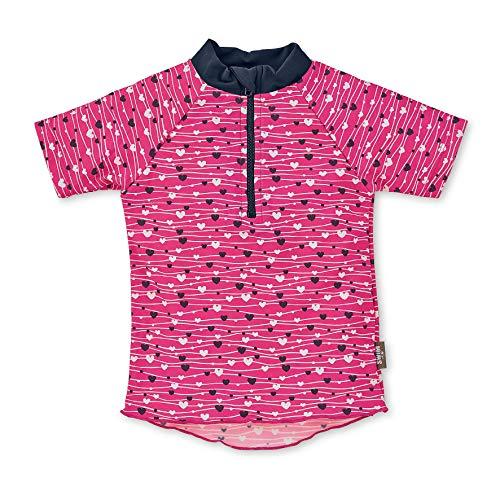 Sterntaler Mädchen Kurzarm-Schwimmshirt, UV-Schutz 50+, Alter: 3 - 4 Jahre, Größe: 98/104, Farbe: Magenta