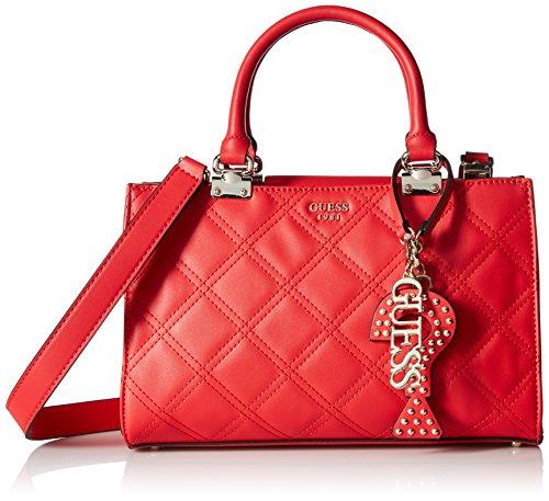 Guess - Status, Shoppers y bolsos de hombro Mujer, Rojo (Lipstick/Lip), 29x20x13...