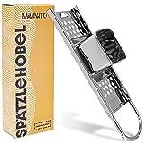 MAVANTO® Cortadora de spaetzle de acero inoxidable para spaetzle y knöpfle caseros - Rallador de spaetzle apta para el lavavajillas y para todas las ollas de hasta Ø 30cm