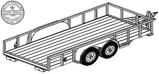 tandem utility trailer plans