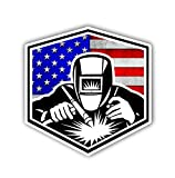 Welding Arc American Flag Sticker Car Motorcycle Bicycle Skateboard Laptop Luggage Decals Bumper Stickers Waterproof