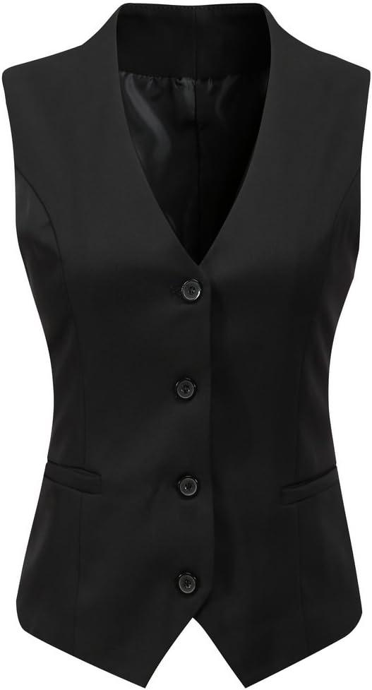 فستان للعمل الرسمي للنساء من Foucome مقاس عادي ملائم بأزرار أسفل صدرية