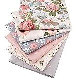 6pezzi/lotto floreale Series twill di cotone, patchwork, panno cucito fai da te materiale quilting scampoli di tessuto per neonato e bambino