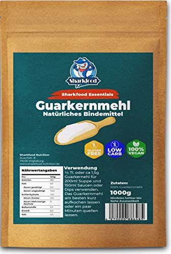 Hochwertiges Guarkernmehl 1000g - Guar Gum Powder Guarkern Mehl Bindemittel Verdickungsmittel Pulver E412 - Low Carb Lebensmittel