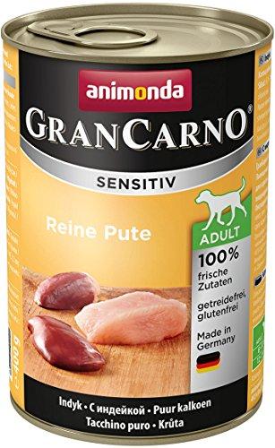 animonda GranCarno Hundefutter Adult Sensitiv, Nassfutter für ausgewachsene Hunde von 1-6 Jahren, Mix, (6 x 400 g)