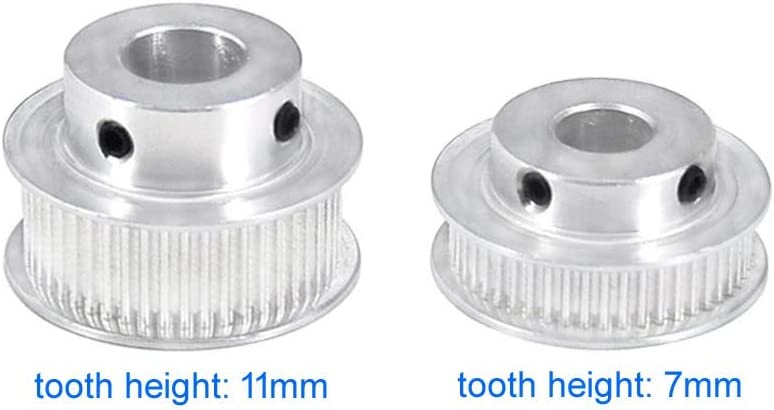 tooth width: 7mm, bore: 10mm GT2 30T Timing Belt Pulley 10mm Bore For 6mm Width Belt Synchronous Wheel for Reprap 3D Printer