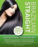 Brazilian Straight Top-Up Keratin Treatment Kit, Home Use Treatment Kit, Salon Quality Hair