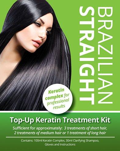 Brazilian Straight Top-Up Keratin Treatment Kit, Home Use Treatment Kit,...