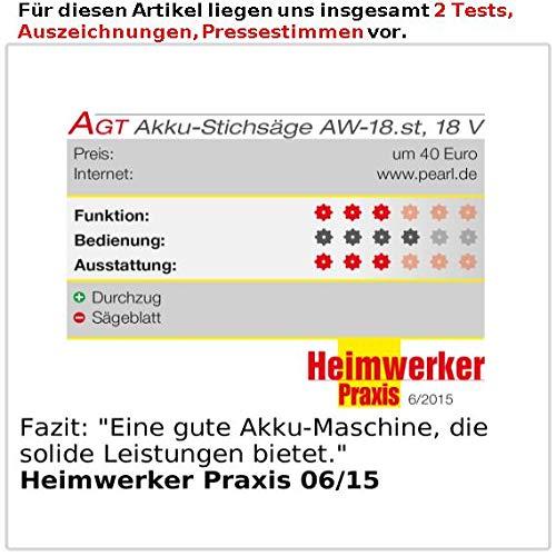 AGT Professional Elektro Stichsäge: Akku-Stichsäge AW-18.st - 5