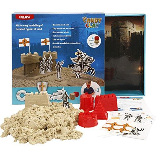 600 g Sandy Castle Loisir Cr/éatif 10 Moules Chateaux de Sable Sable /à Modeler Jeu de Construction