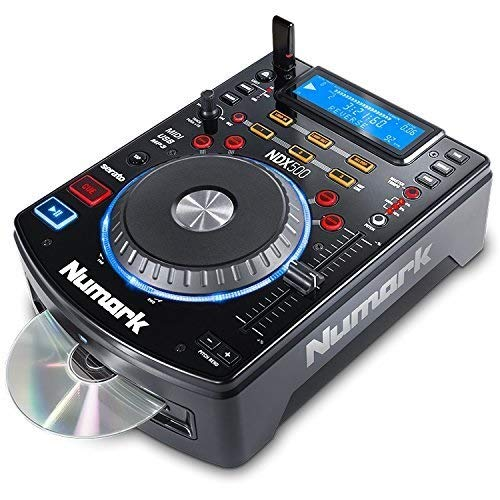 Numark NDX500 - Reproductor de CD/USB y Controlador de Software Independiente con Jog Wheel Sensible al Tacto, Interfaz de Audio, Premapeado para una Profunda Integración con Serato DJ