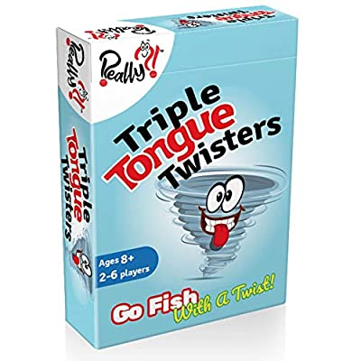 Triple Tongue Twisters Card Game for Kids, Teens, & Adults | The Funniest & Most Educational Go Fish with a Twist You Will Ever Play | Laugh as You Learn | Hilarious Friend & Family Fun | Travel Size