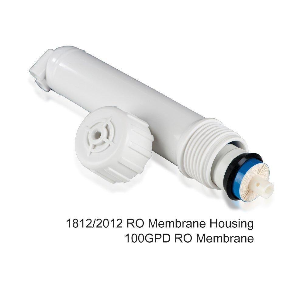 Membrane Solutions 100 GPD RO- Purificador de agua con carcasa y 3 accesorios para codo 1 llave: Amazon.es: Productos para mascotas