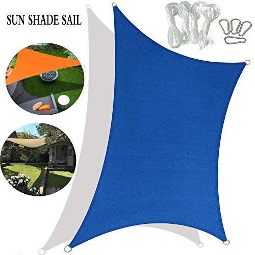 PA Toldo Vela de Sombra, Uso en el Hogar Toldo de Protección Solar Jardín Patio Piscina Camping Picnic Toldo Parasol (Size : 6 * 6m)