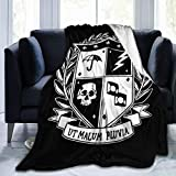 Smerkpawr Umbrella Academy School Crest Light Fleece Flannel Throw Blanket Lightweight Ultra-Soft Warm Bed Blanket Fit Sofa Suitable