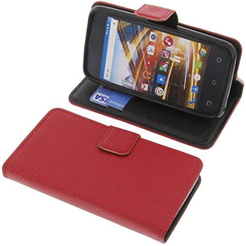 foto-kontor Tasche für Archos 40 Neon Book Style rot Schutz Hülle Buch