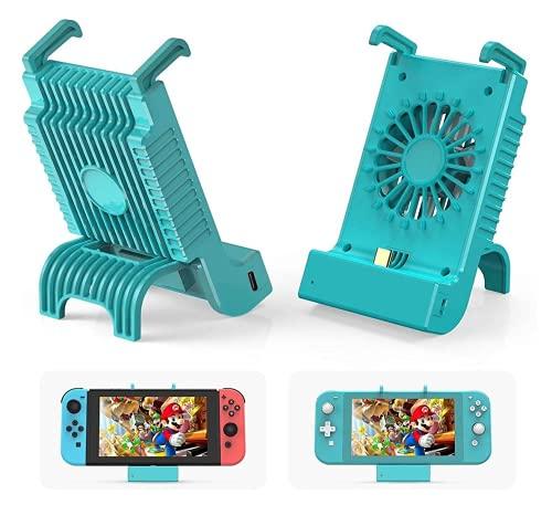 Adecuado para Nintendo Switch Host Radiador Base con Dock Cooler Fuente de alimentación USB (negro)