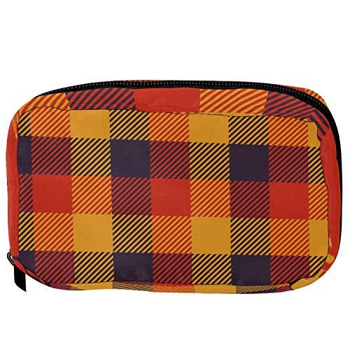 Bolsa pequeña para cosméticos, bolsa de maquillaje, bolsa de cosméticos, bolsa de viaje, neceser de viaje, neceser para lápices, monedero con cremallera, geometría de alce, color negro y blanco