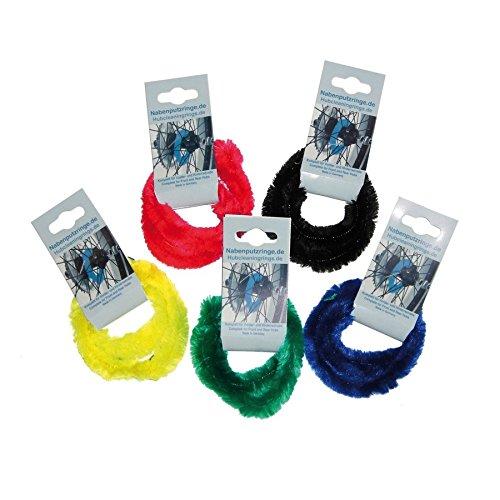 Ri-Arnold-Na Perlon-Nabenputzringe farblich sortiert Paar für 7-Gang-Nabe, einzelverblistert