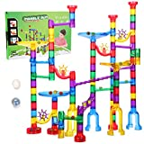 Ucradle Marble Run, 152 Pcs Large Marble Runs For Kids, Marble Race Track Marble Maze Game, Stem Toy Plastic Blocks Marble Run Toy Present For 4-7 Years Olds Girls Boy