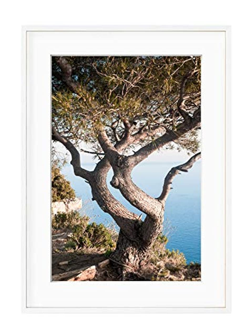 Route de Cretes - Black Satin Aluminium Frame - Full Format, Multicolored, 50x70