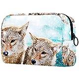 Bolsa de maquillaje personalizada para brochas de maquillaje, bolsa de aseo portátil para mujer, organizador de viaje de dibujos animados