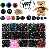 Plastic Safety Eyes and Noses with Washers for Amigurumi Stuffed Animals, 560PCS Multiple Sizes Safety Eyes Noses for Doll Teddy Bear Craft