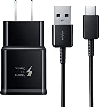 Samsung Fast Charger and Type C USB Cable, UL Certified Adaptive Wall Adapter Compatible with Samsung Galaxy S8/S8 Plus/ S9/ S9+/ S10/ S10 Plus/Note 8/ Note 9 (Black)