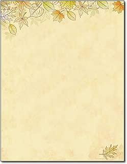 Crisp Fall Leaves Autumn Letterhead Flyer Paper - 80 Sheets