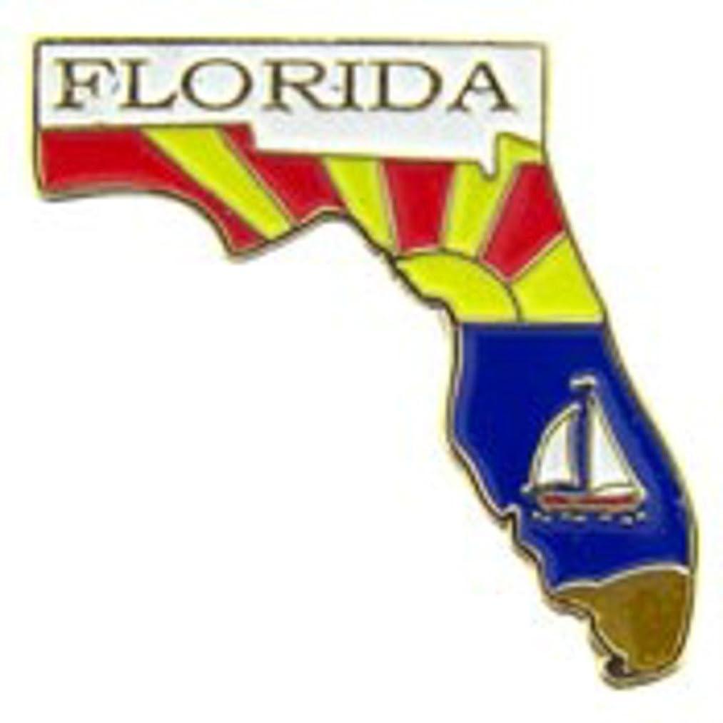 EagleEmblems P09210 Pin-Florida (Map) (1'')
