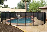 VINGLI Pool Fence 4Ft x 96Ft Swimming Pool Fence in Ground Life Saver Fencing, Black