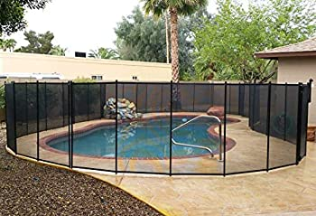 VINGLI Pool Fence 4Ft x 48FtSwimming Pool Fence in Ground Life Saver Fencing Black