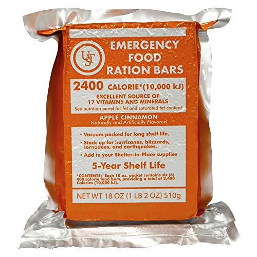 """Ultimate Survival Technologies, Emergency Food Rations, LxWxD: 6"""" x 4.5"""" x 1.25"""""""