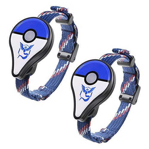 akaddy Jouet interactif de Chiffre de Bracelet de Bracelet de Bluetooth pour Nintendo Pokemon GO Plus, 2pcs