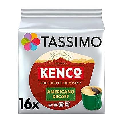 Tassimo Kenco - Capsulas de cafe decaf (paquete de 5, 80 vainas en total, 80 porciones)