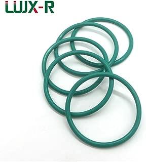 Gimax 20pcs 3.5mm Oil Seal O-Ring Gasket FKM O Ring Seal Dia.28/29/30/31/32/34~45 Green Oring Fluorine Washer Mechanical - (Size: 44x37x3.5mm)