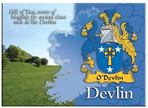 iLuv Devlin Irlandesi Cognome Souvenir Metallico Immagine Calamita da Frigo