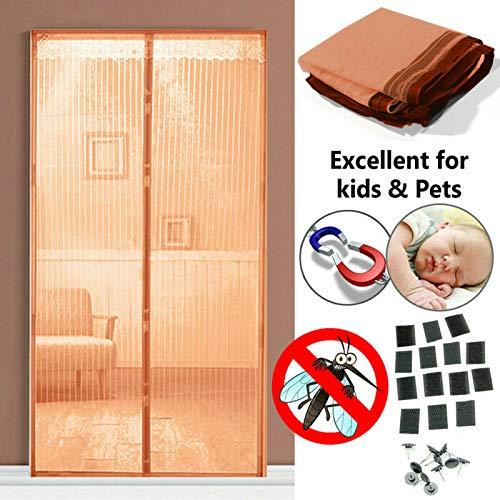 Neue 2020 Sommer Familie praktische magische Vorhang Tür Netz hochwertige magnetische feste Freisprecheinrichtung fliegende Mücke Insektenschutz frei Stanzen M1 B 80 x H 210 cm